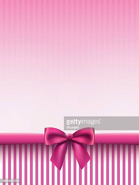 vertical background with a satin bow in pink colors - hair bow stock illustrations