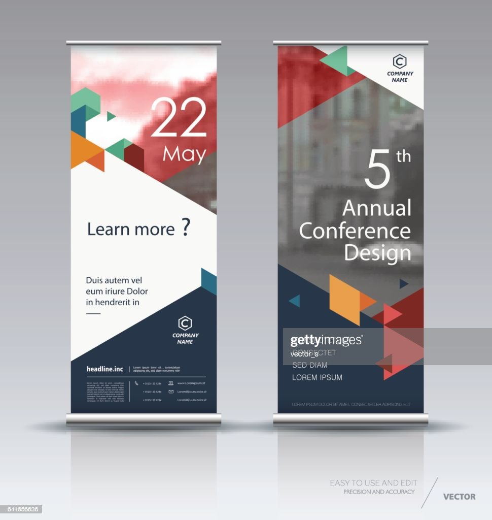 Vertical banner design