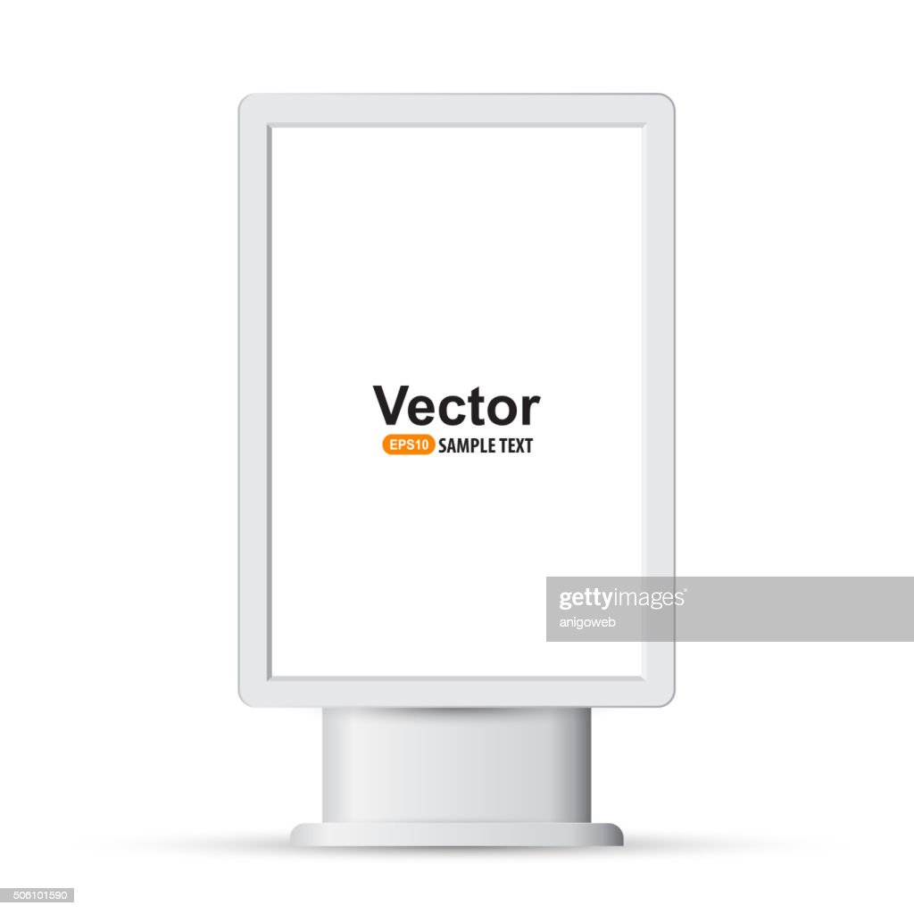 Vertical blank lightbox