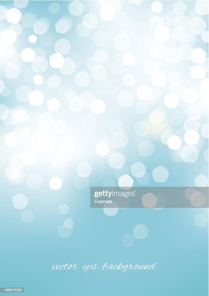 Vertical blue blurred background with graphic elements.