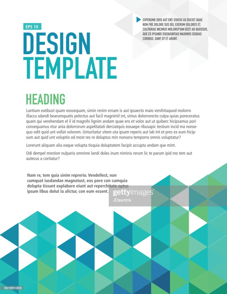 vertical blue presentation template with sample text layout vector, Powerpoint templates