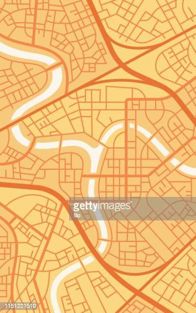 Vertical City Map Network Background Abstract