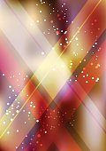 Vertical color party background with graphic elements.