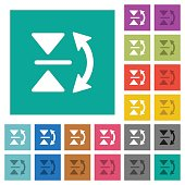 Vertical flip square flat multi colored icons