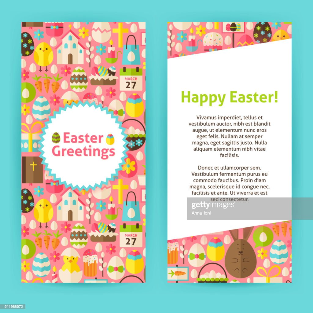 Vertical Flyer Templates for Happy Easter