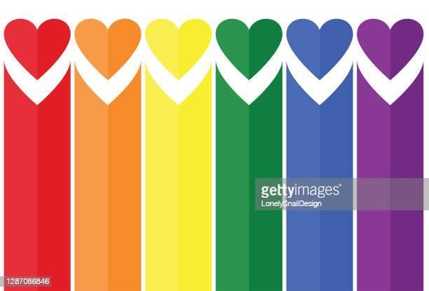 垂直心臓バンド - 結婚の平等点のイラスト素材/クリップアート素材/マンガ素材/アイコン素材