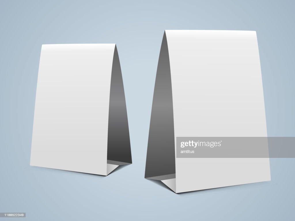 projeto vertical da barraca de papel : Ilustração