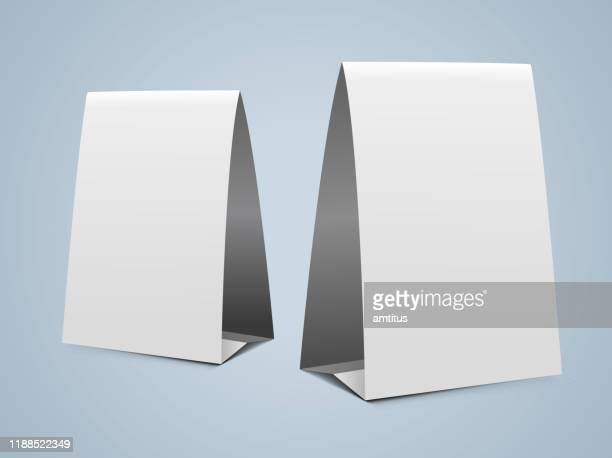 vertical paper tent design - desk toy stock illustrations, clip art, cartoons, & icons