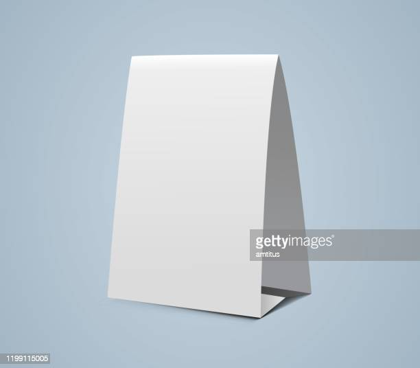 vertical paper tent - greeting card stock illustrations