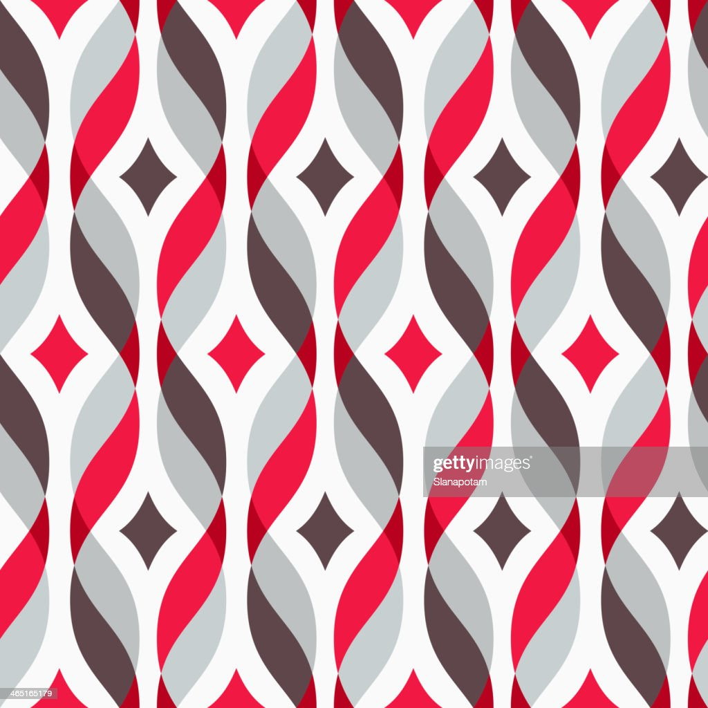 Vertical red grey and brown colorful waves design element