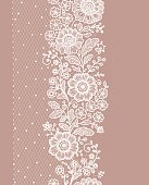 Vertical Seamless Pattern. lace.