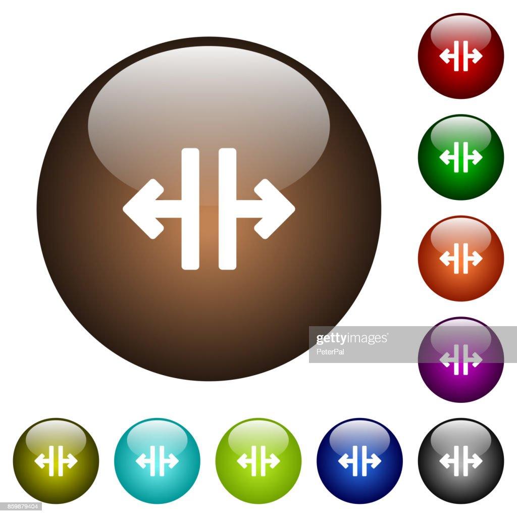 Vertical split tool color glass buttons