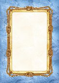 Vertical template of diploma or card with sea design elements