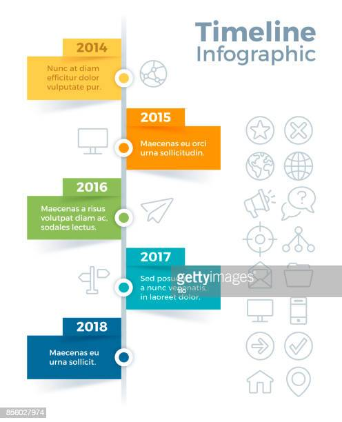 vertical timeline infographic - vertical stock illustrations