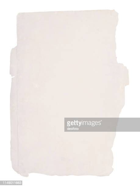 a vertical vector illustration of a plain blank mud colored old ripped paper - at the edge of stock illustrations