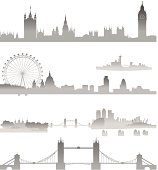 Very Detailed London skyline