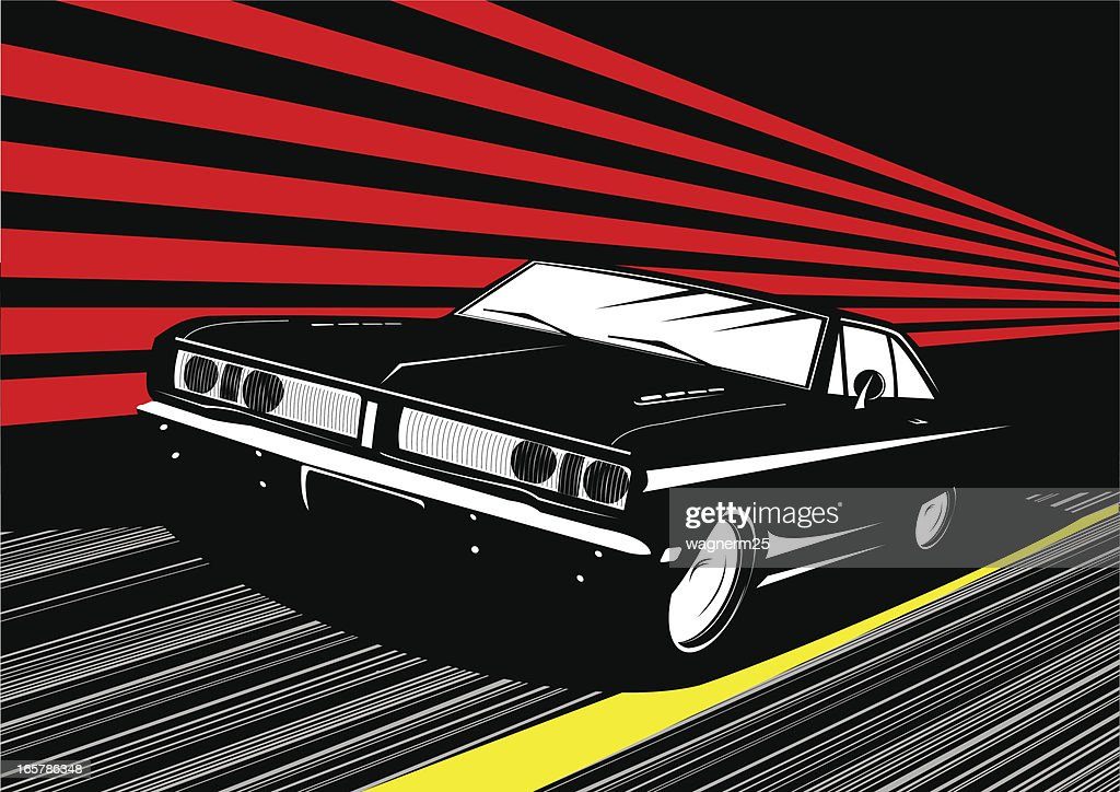 Very Fast Muscle Car Vector Art Getty Images
