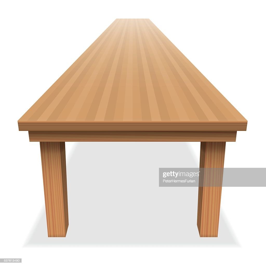 Very Large Empty Table Long Festive
