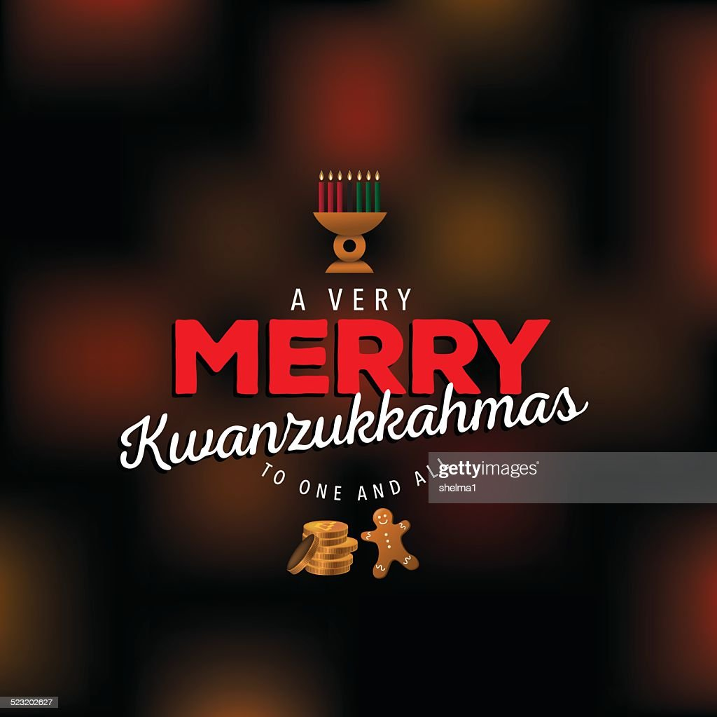 Very merry Kwanzukkahmas design