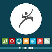 Very Useful Vector Icon Of Happy Man with Bonus Icons Very Useful For Mobile App, Software & Web