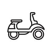 Vespa icon vector sign and symbol isolated on white background, Vespa logo concept