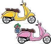 Vespa motorbikes