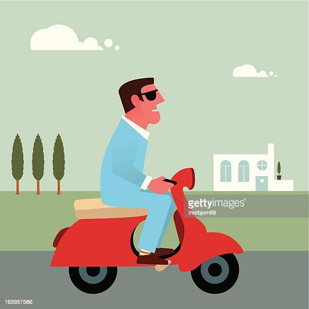 vespa scooter - vespa stock illustrations, clip art, cartoons, & icons