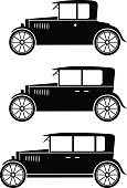 Veteran car vector icons