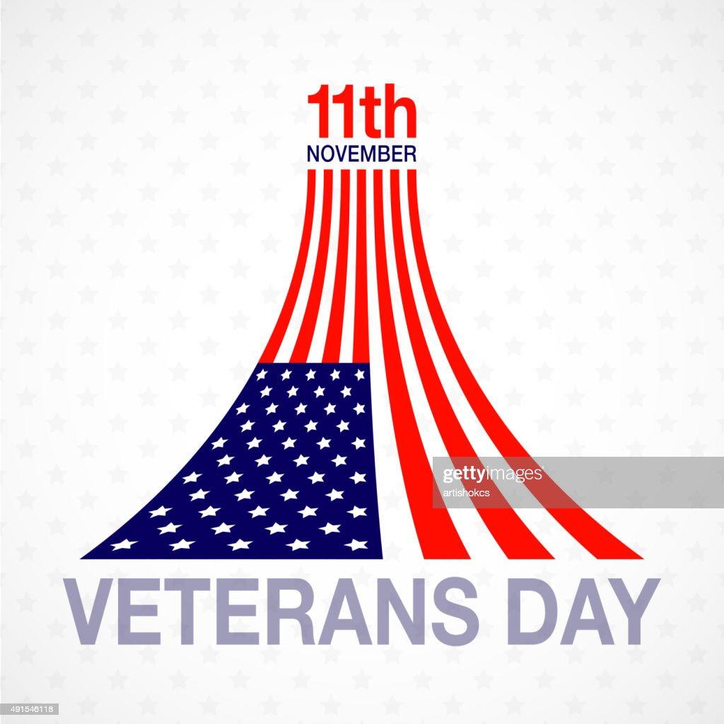 Veterans day flag design logo emblem on white background.
