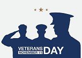 Veterans day promo banner.