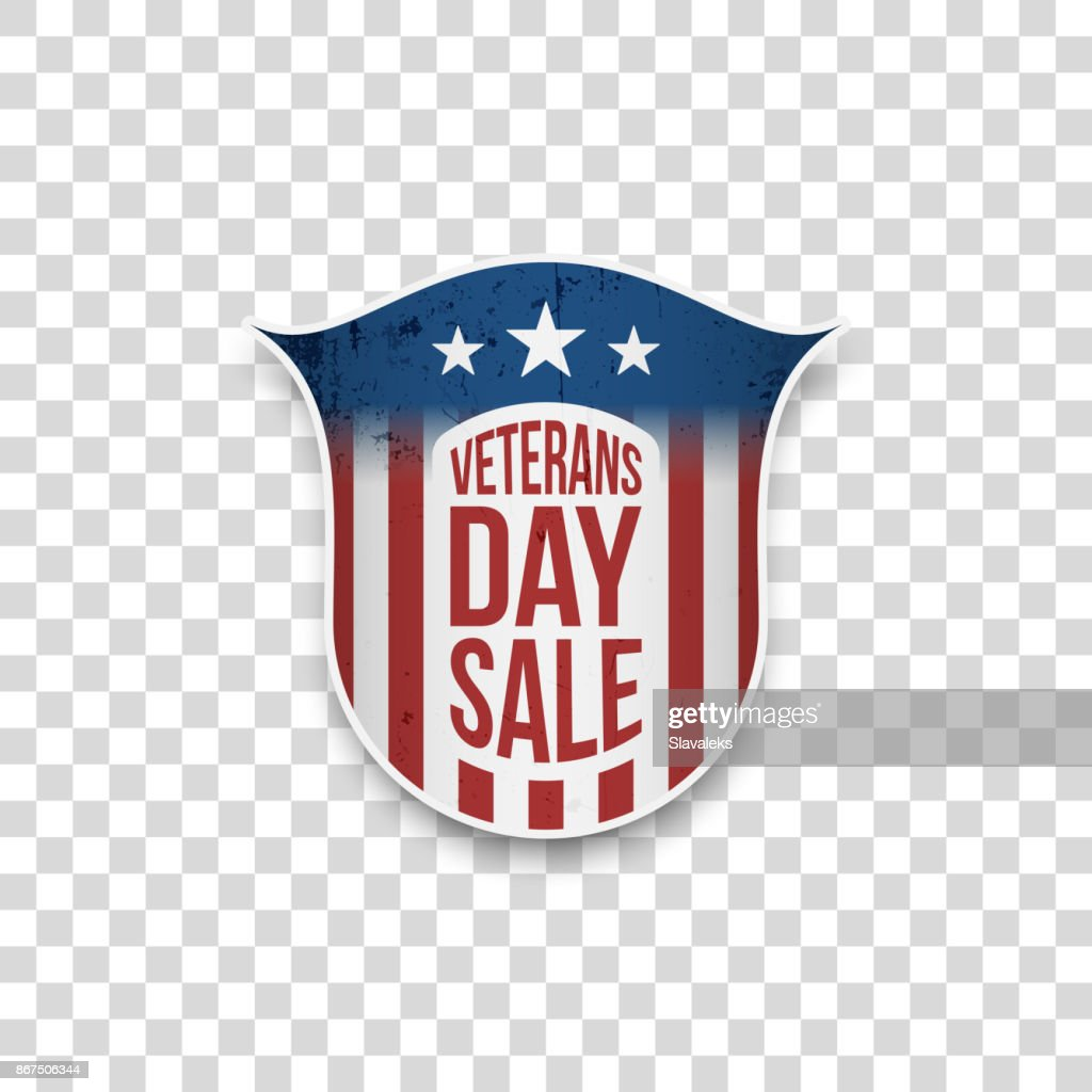 Veterans Day Sale Greeting Label With Text Vector Art Getty Images