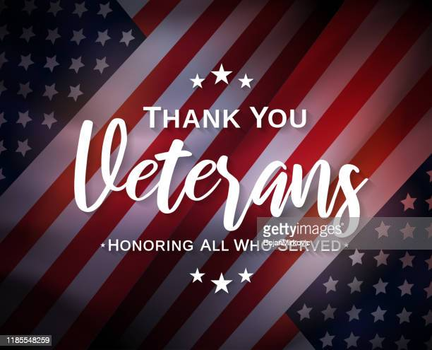 veterans day, thank you, poster. honoring all who served. vector - military stock illustrations