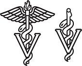 Veterinarian Caduceus