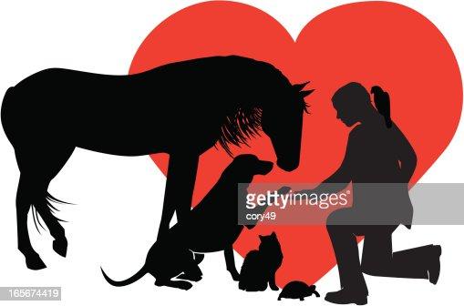 Vétérinaire Pour Les Petites Grands Animaux Clipart ...