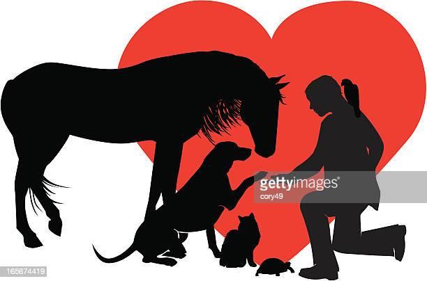 veterinarian for small & large animals - veterinarian stock illustrations, clip art, cartoons, & icons