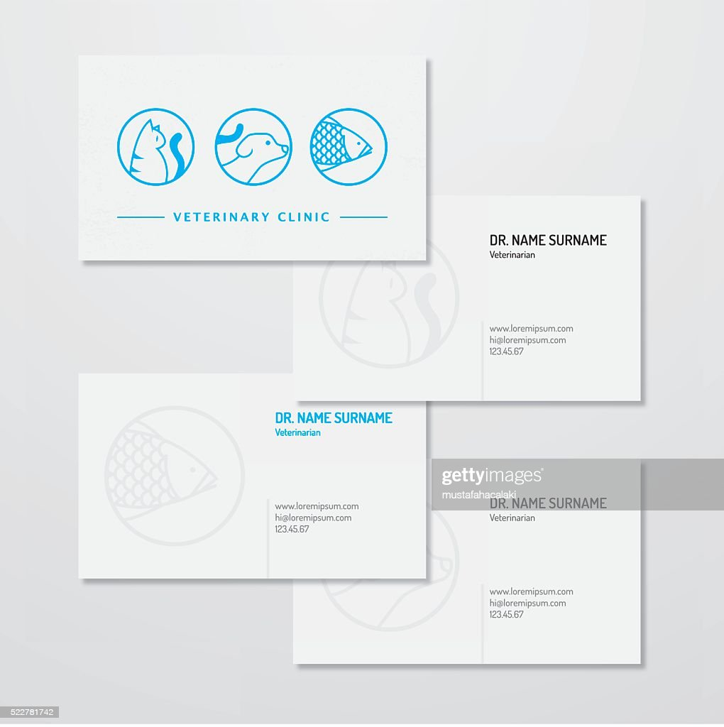 Veterinary Clinic Logo And Business Card Design Vector Art | Getty ...