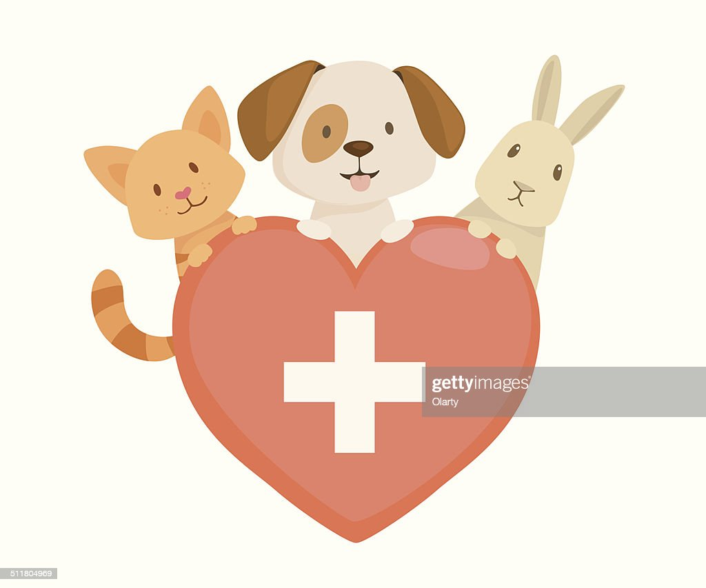 Veterinary heart emblem