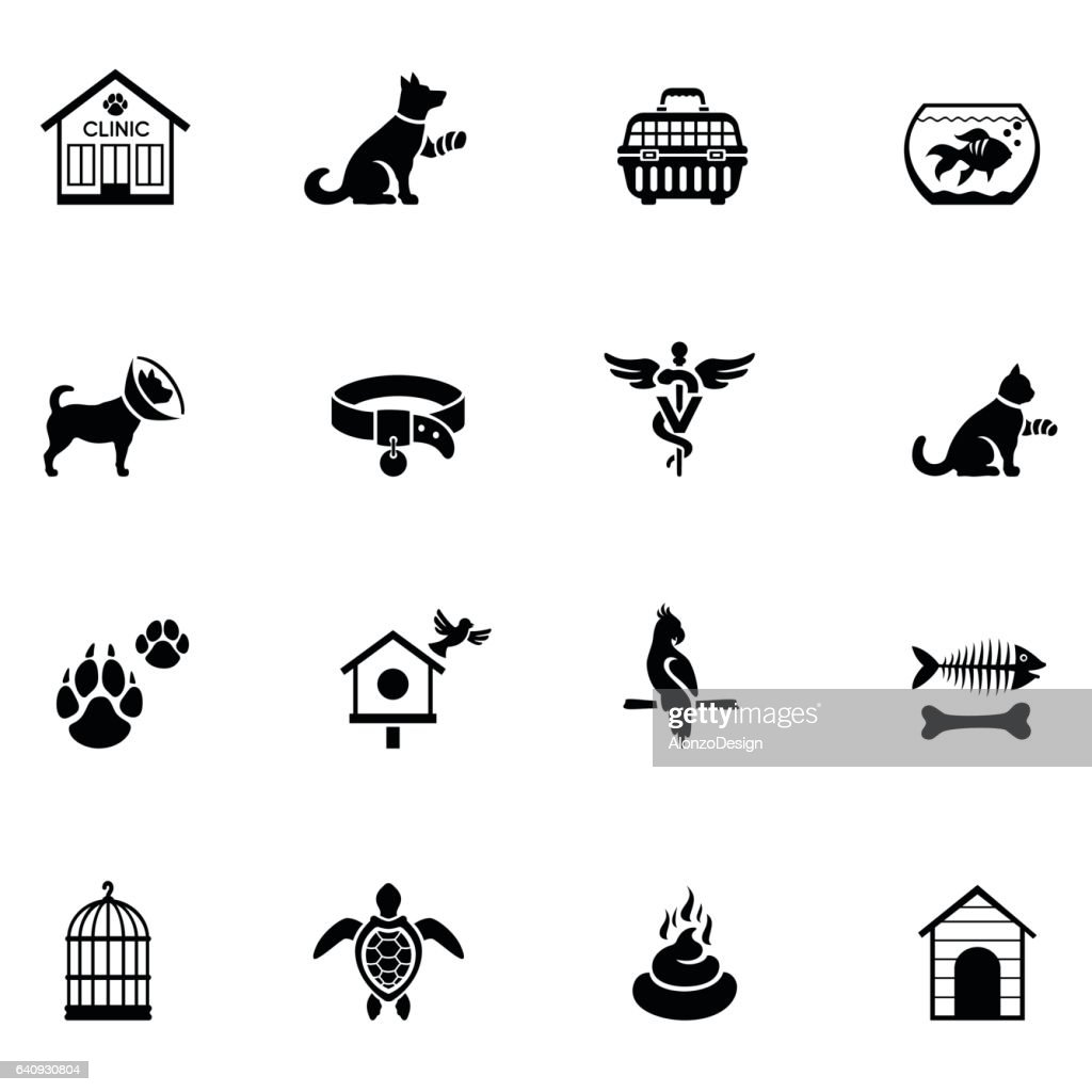 Veterinary Icon Set : stock illustration