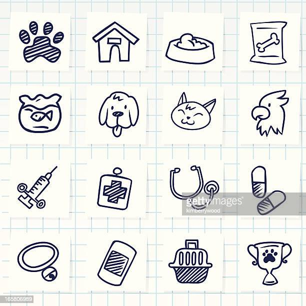 veterinary icon - pet equipment stock illustrations, clip art, cartoons, & icons