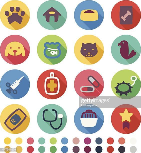 veterinary icon - veterinarian stock illustrations, clip art, cartoons, & icons