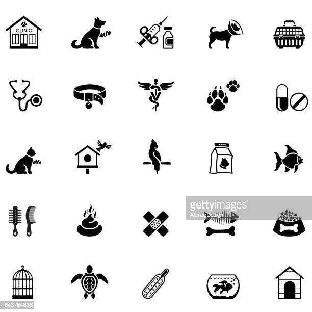 veterinary icons - pet equipment stock illustrations, clip art, cartoons, & icons