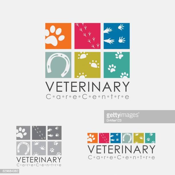 veterinary logo - veterinarian stock illustrations, clip art, cartoons, & icons