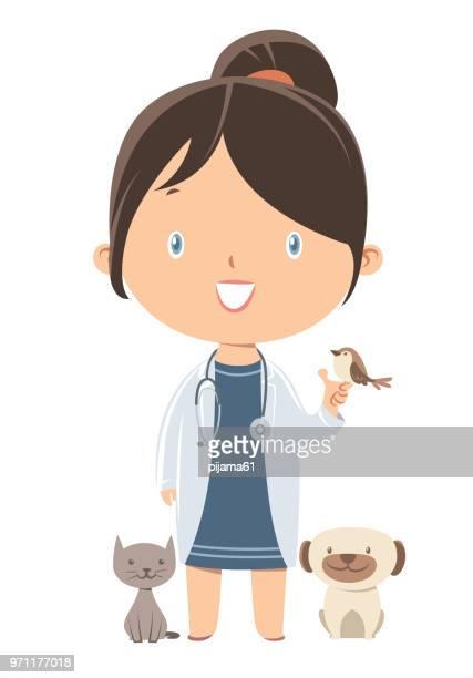 veterinary - veterinarian stock illustrations, clip art, cartoons, & icons