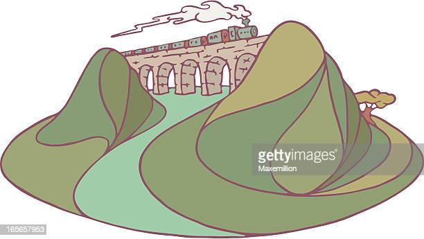 viaduct or aquaduct. - aqueduct stock illustrations, clip art, cartoons, & icons