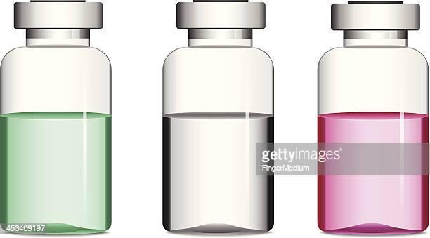 Vials with medicine