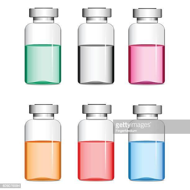 巻物に薬 - バイアル点のイラスト素材/クリップアート素材/マンガ素材/アイコン素材