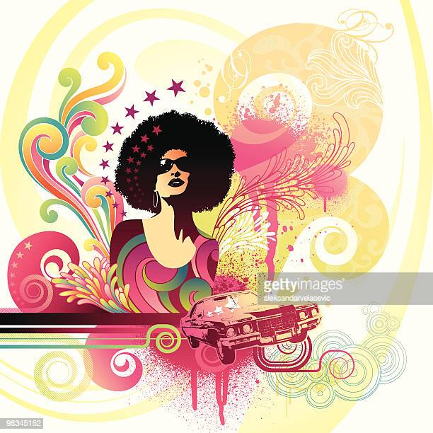 vibe - afro stock illustrations