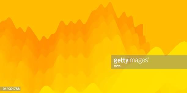 ilustrações, clipart, desenhos animados e ícones de fundo abstrato vibrante - fundo amarelo