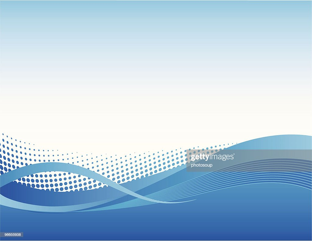 Vibrant blue flow background