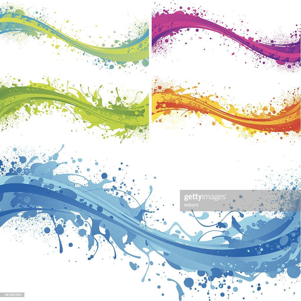 Vibrant flow splashes